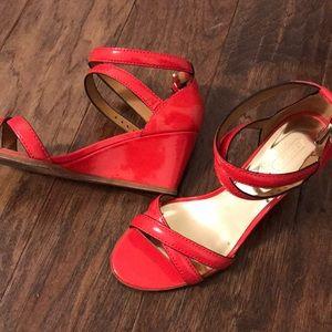 Coach wedge sandals shoes size 9
